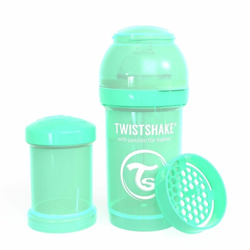 Twistshake Anti-Kolik Flasche pastel grün, 180ml
