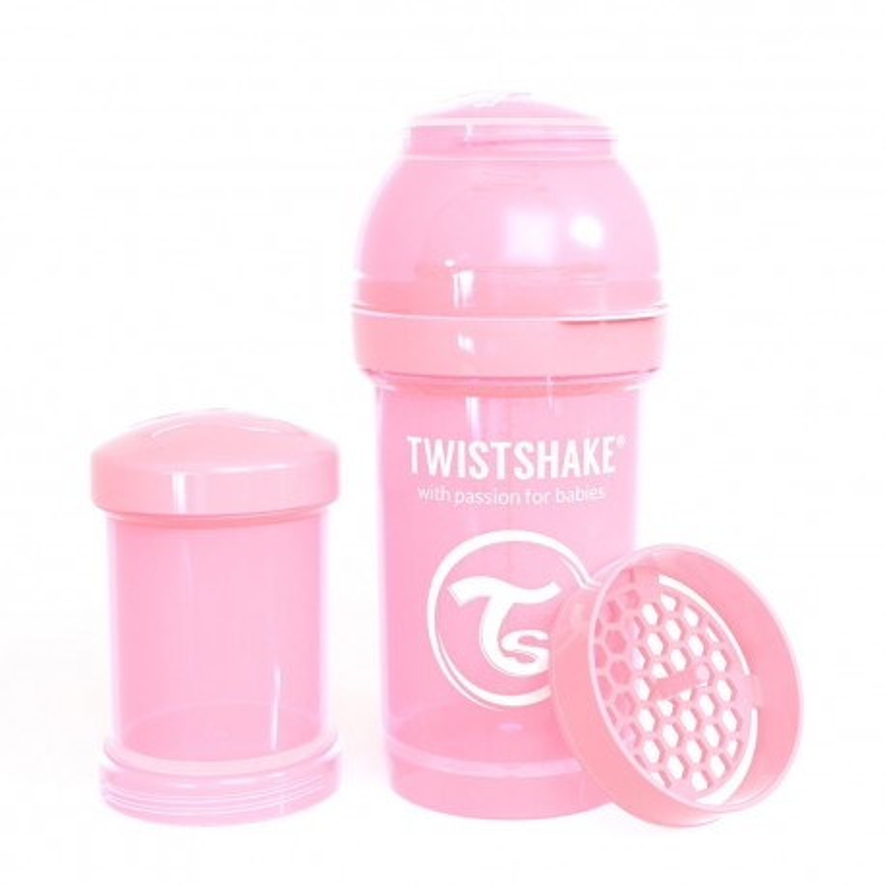 Twistshake Anti-Kolik Flasche pastel pink, 180ml