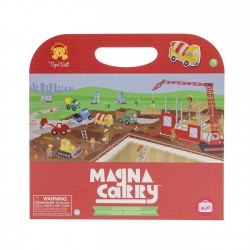 Magnetspiel Magna Carry Baustelle - Busy Builders von Tiger Tribe