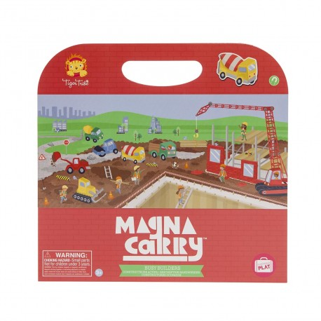 Magnetspiel Magna Carry Baustelle - Buisy Builders von Tiger Tribe
