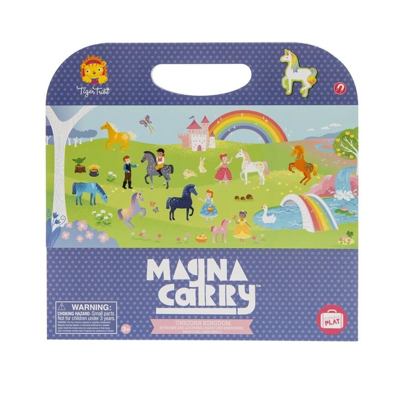 Magnetspiel Magna Carry Einhorn - Unicorn Kingdom von Tiger Tribe