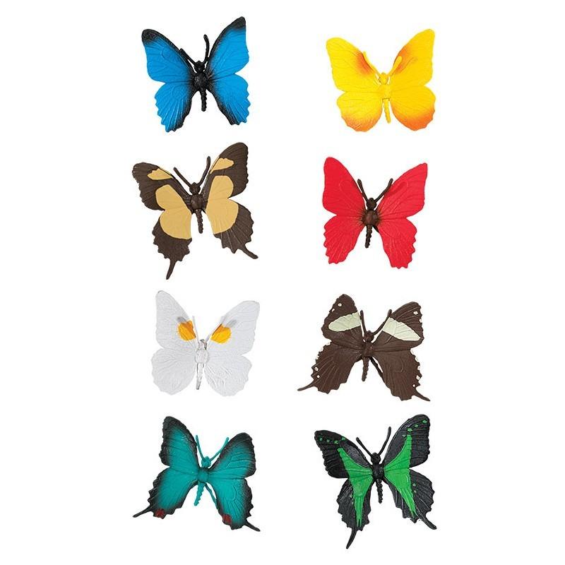 Schmetterlinge - Set mit 8 kleinen handbemalten Figuren