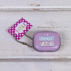 Milchzahndose Zahnfee, pink