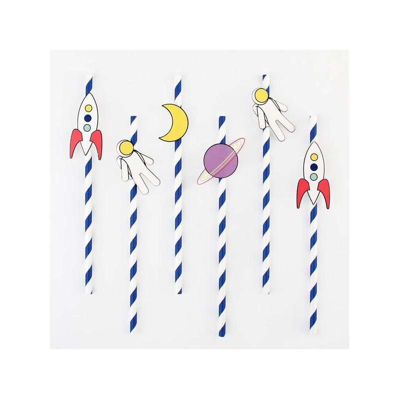 My Little Day - 12 Strohhalme Astronaut - Weltall