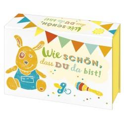 Wie schön, dass du da bist! - Geschenkbox & Meilensteinkarten zur Geburt