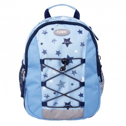 FUNKI Kinderrucksack Sterne Blue Stars