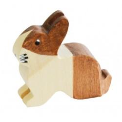 Trauffer Brauner Holländer Hase aus Holz