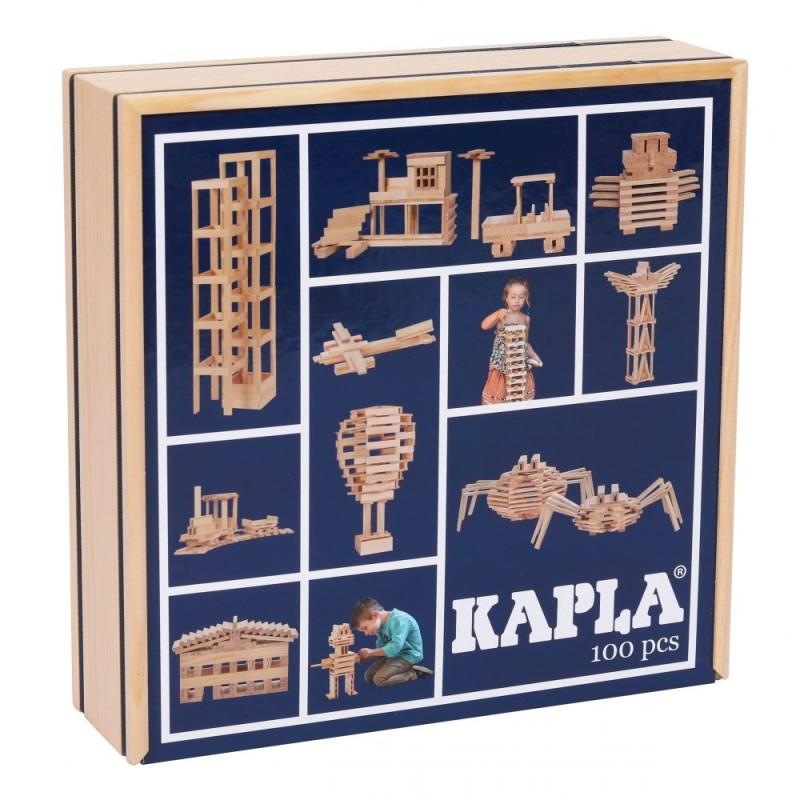 Kapla Baukasten mit 100 Holzplättchen