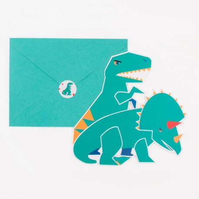 My Little Day - 8 Einladungskarten Dinosaurier
