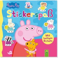 Peppa Pig Rätselheft und Stickerspass