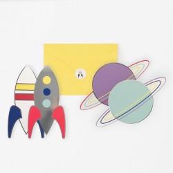 My Little Day Einladungskarten Astronaut & Weltraum