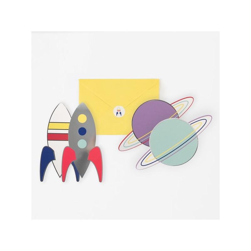 My Little Day - 8 Einladungskarten Astronaut - Weltall