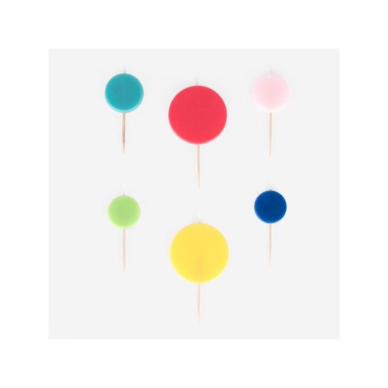 My Little Day - 6 Kerzen Kreise - Bubbles