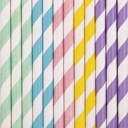 My Little Day - 25 Strohhalme aus Papier Mix Pastell