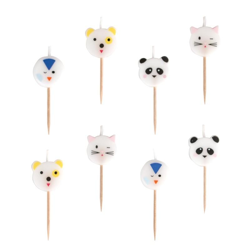 My Little Day - 8 Kerzen Mini Animals