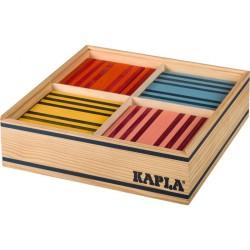 Kapla Octocolor Baukasten mit 100 Holzplättchen