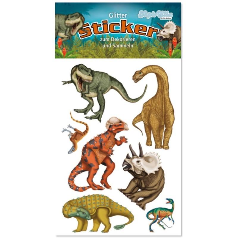 Glitter Sticker Dinosaurier von Lutz Mauder