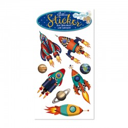 Glitter Sticker Rakete von Lutz Mauder