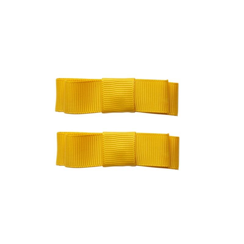 Haarspangen Ribbon mit gelber Schleife