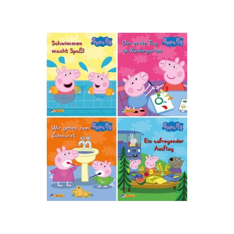 Peppa Pig - Peppa Wutz 1-4 - 4 Mini-Bücher