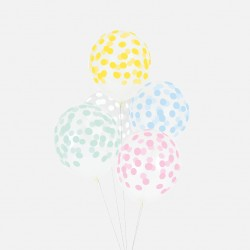 My Little Day - 5 Konfetti Ballons mix pastel
