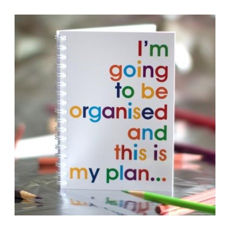 I'm going to be organized and this is my plan... - Notizbuch
