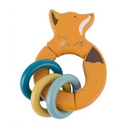 Rassel & Greifling Fuchs aus Holz von Moulin Roty