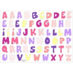 Wasserfeste Sticker ABC in pink von Jabalou