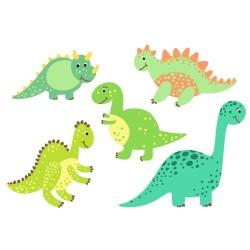 Wasserfeste Sticker Dinosaurier von Jabalou