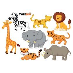 Wasserfeste Sticker Tiere Afrikas von Tweebug