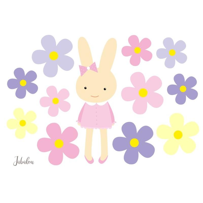 Wasserfeste Sticker Hasenmädchen von Jabalou