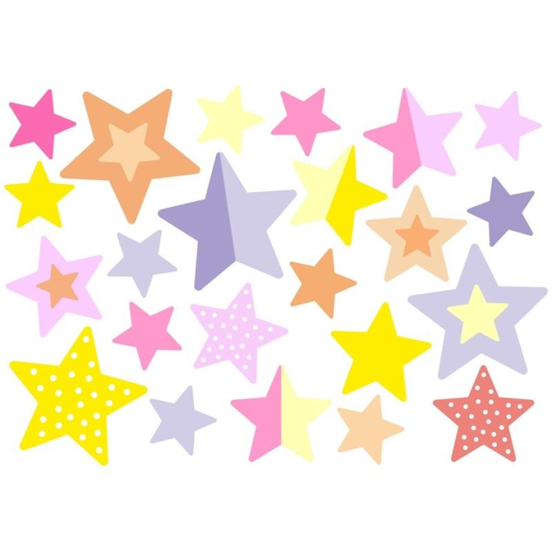 Wasserfeste Sticker Sterne in pastell von Jabalou