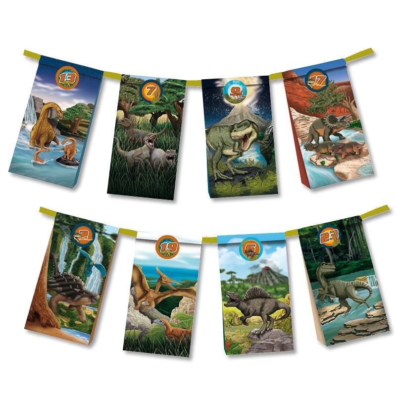 Dinosaurier Adventskalender zum Selberbefüllen