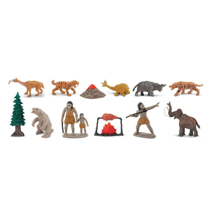 Prähistorisches Leben - Set mit 12 handbemalten Figuren