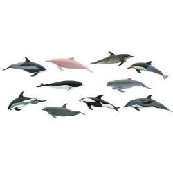 Delfine - Set mit 10 kleinen handbemalten Figuren