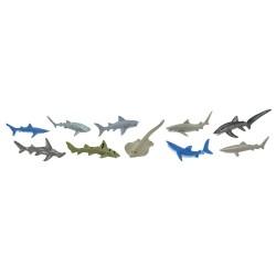Haie - Set mit 10 kleinen handbemalten Figuren