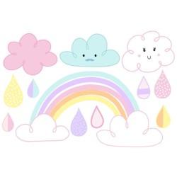 Wasserfeste Sticker Regenbogen von Jabalou