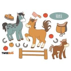 Wasserfeste Sticker Pferde von Tweebug