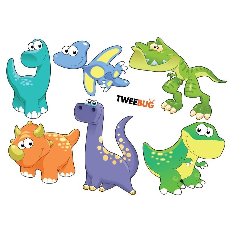 Wasserfeste Sticker Dinosaurier von Tweebug