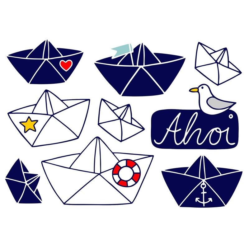 Wasserfeste Sticker Ahoi von Jabalou