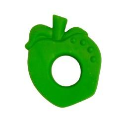 Beissring & Greifling Apfel in grün aus Naturkautschuk von Lanco Toys