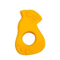 Beissring & Greifling Birne in gelb aus Naturkautschuk von Lanco Toys