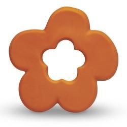 Beissring & Greifling Blume in orange aus Naturkautschuk von Lanco Toys