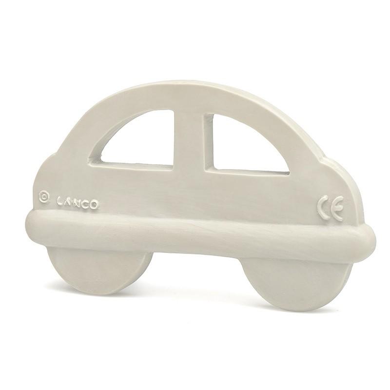 Beissring & Greifling Auto in grau aus Naturkautschuk von Lanco Toys