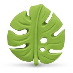 Beissring & Greifling Grünes Blatt aus Naturkautschuk von Lanco Toys