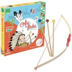 Bogen und 3 Pfeile aus Holz für kleine Indianer von Vilac