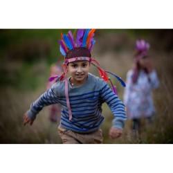 Bastelset Gestalte deinen eigenen Indianer Federschmuck von Seedling