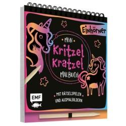 Mein Kritzel-Kratzel-Malbuch Einhörner