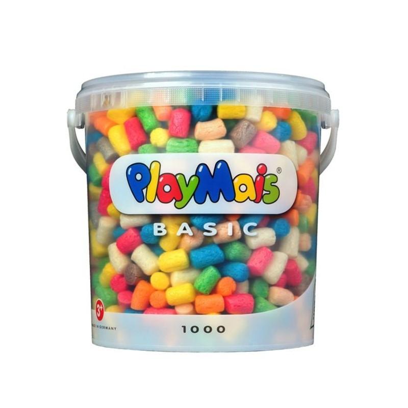 PlayMais Basic mit 1000 Stück im wiederverschliessbaren Eimer