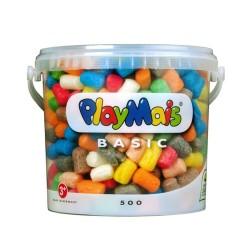 PlayMais Basic mit 500 Stück im wiederverschliessbaren Eimer